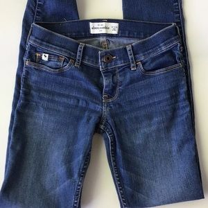 Girls Size 14 Slim Medium Wash Jeans - Abercrombie